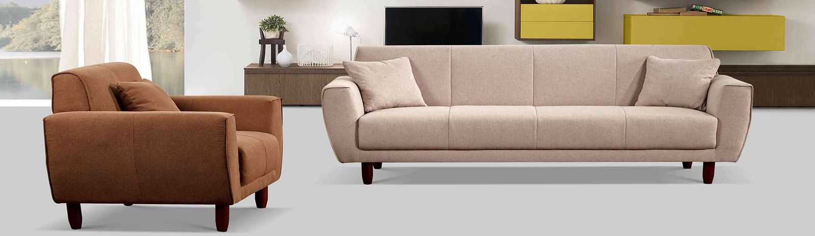China best Linen Fabric Sofa on sales