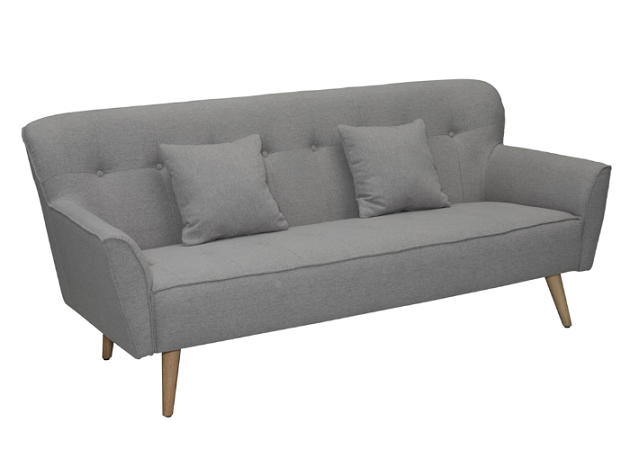 Imitated Cashmere Cloth Grey Fabric Sofa / Oatmeal Colored Sofa For Young People