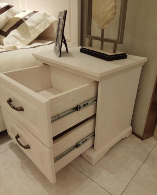 Two Drawers White Nightstands Bedside Tables Simple European Style Furniture