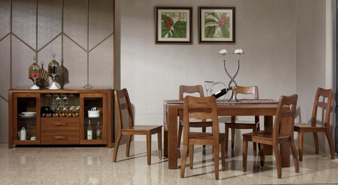 Personalized Fashion Contemporary Dining Room Furniture Modern Wood Dining Table