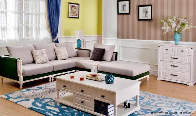 European Contemporary Living room Furniture / L Shape Sofa Set And Coffee Table