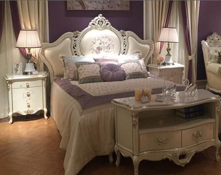 Apartment Flat Upholstered King Size, French Bedroom Furniture