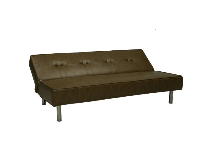 PVC Cover Space Saving Sofa / Unique Sofa Beds Steady Structure With Metal Legs