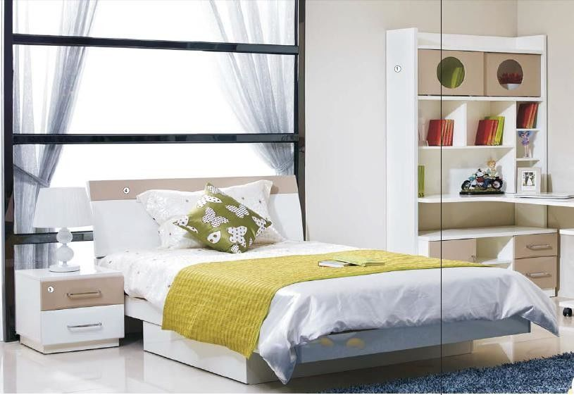 bedroom furniture for kids. High Gloss Finishing Home Room Furniture  Kids Bedroom Single Bed