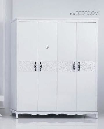 E1 MDF Material Home Room Furniture Painting Finishing White High Gloss Wardrobe