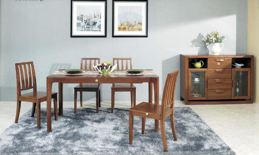 Modern Style Contemporary Dining Room Furniture Classic Walnut Wood Color