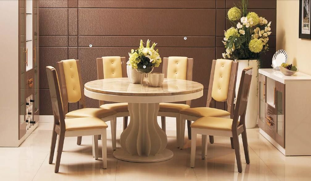 Beautiful Contemporary Dining Room, Cream Colored Dining Room Furniture