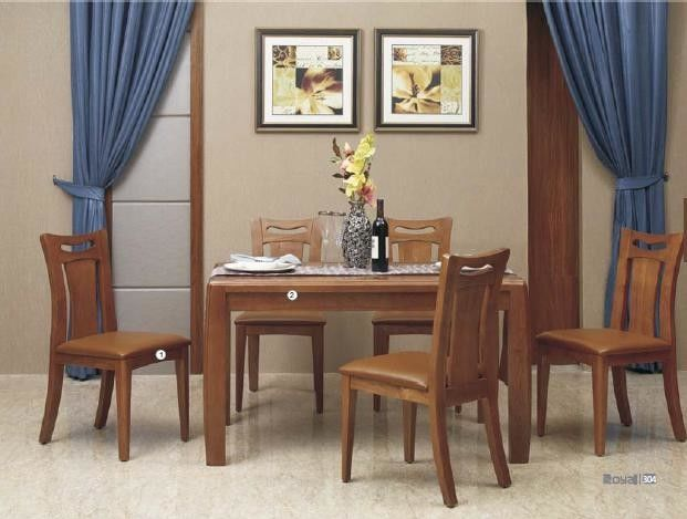 Sharply Modern Kitchen Dining Sets Contemporary Wood Dining Table Veneer Finishing
