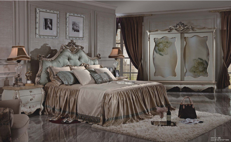 2 0 Meter French King Size Bed, French Style Bedroom Furniture