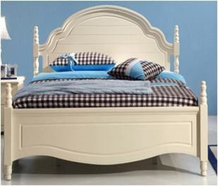 Morden Color Home Room Furniture / Younger Bedroom Childrens Double Beds