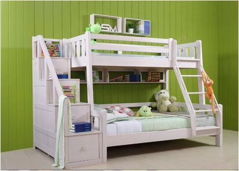 Young White Childrens Bedroom Furniture Environmental Protection