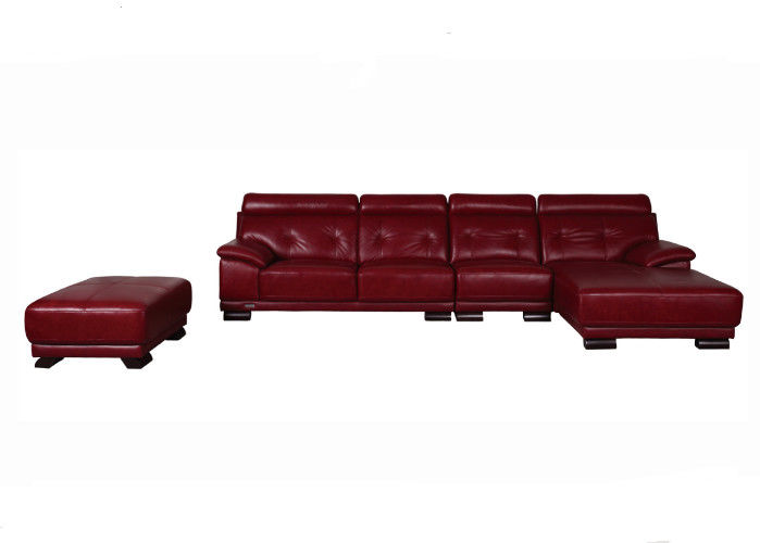 Leather Sofa With Solid Wood Frame