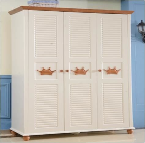Panel Home Room Furniture White High Glossy Painting With Wardrobe