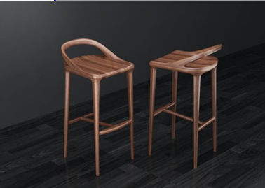 Living Room Uruguay Rose Full Solid Wood Bar Chairs 700mm High